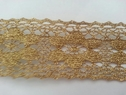 crochet golden scalloped flower shape stiff lce trim 1 3/4