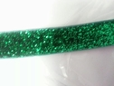 Emerald glitter fold over elastic 5/8