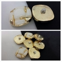 Gold and ivory self shank button 22 mm