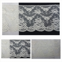 Ivory poly lace scalloped wide 5.5 L6-9