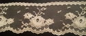 Ivory Rose Flower Floral Scalloped Lace  Trim  2 3/4 L2-4