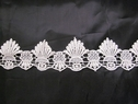 Ivory venise shell Venice lace double scalloped lace trim 2 1/4 inch wide