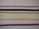 Lot 6 Color 30Y Elastic edge  Picot Trim You Choose Color