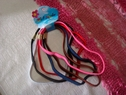 lot 6 color flat elastic headband brown, red, white,