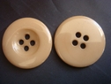 Lot of 1 Dozen  Dark Tan 4 Hole Button 23 mm