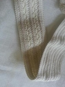 Natural color re embroidered  3 D Wide elastic 2 1/8 inch