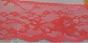 Navy neon coral dark red orange poly lace scalloped 2 5/8