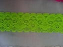 Neon  lime stretch lace trim 1 1/4 S7-5