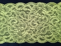 Neon Yellow stretch lace double scalloped trim 5.5 inch wide