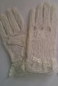 Off white stretch lace GLOVE for small girls 4-7 great for Communion Wedding Flower girl