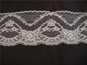 Poly lace white double scalloped trim 2  3/4 L4-6