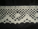 Pure white crochet clunny scalloped lace trim  1 1/2