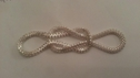 Silver metal bow embellishment great for craft or decoration