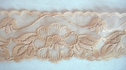 Tan scalloped non-stretch lace trim 1 3/4 L7-6