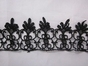 Venise black double scalloped lace trim 2 inches.