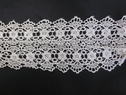 Venise Venice ivory double scalloped lace trim 3 7/8 inch wide