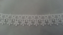 Venise white double daisy edge  lace trim 7/8 inch