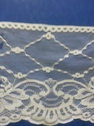 white poly lace wide scalloped 6 inch wide  trim L6-3
