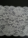 White shiny double scalloped floral lace trim 5.5 S7-6