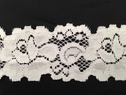 White stretch lace double scaloped trim 1 1/2 inch wide S2-3