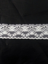 Wholesale white / black poly lace trim 1 1/4 in L11-1