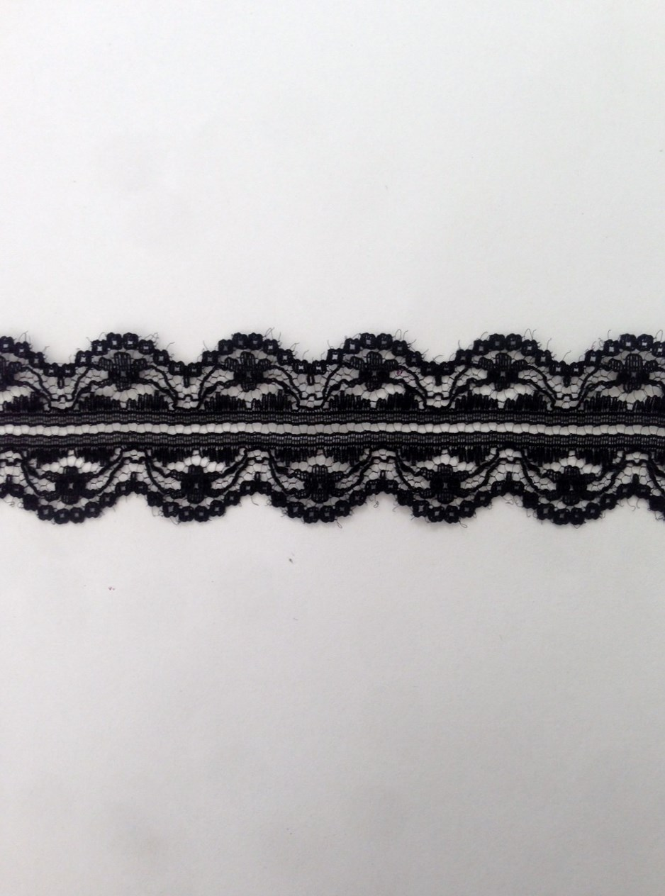 Wholesale white / black scalloped poly lace trim 1 1/4 in. Great for ...