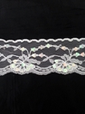 Wholesale  yard White Sequin Floral Poly Lace Trim 2 1/4 inch