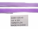 wholesale 25 yards Lavender Velvet  narrow Ribbon 1/4