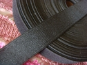 Wholesale 50Y Roll of Black Knitted Elastic 1 1/4 W