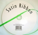 Wholesale Roll 100 y Polyester Satin Ribbon Apple Green 1/4 in Wide