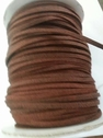 wholesale roll 100 yard   brown faux suede cord 1/8 inch wide craft