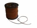 Wholesale Roll 100 yards Faux Suede Light Brown Narrow Cord 1/8