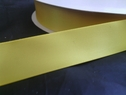 wholesale roll of 100 yards of yellow polyester satin ribbon 7/8inches