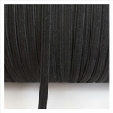 wholesale roll of 288 yards of black knitted elastic trim 1/4 inch wide.