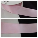 wholesale roll of 50 yards pink satin ribbon trim 1 1/2 inch wide.