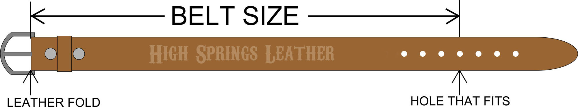 how to determine your belt size high springs leather