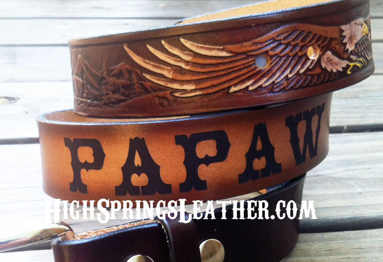 high springs leather custom leather name belts