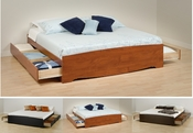 King Size Prepac 6 Drawer Storage Bed