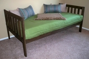 Mission Daybed<BR> (Rustic Walnut)