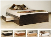Queen Size Prepac 6 Drawer Storage Bed