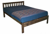 Santa Barbara Platform Bed (Rustic Walnut)