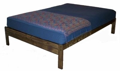 Santa Cruz Platform Bed (Rustic Walnut)