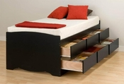 Twin Size Prepac 6 Drawer Storage Bed