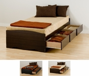 XL-Twin Prepac 3 Drawer Storage Bed