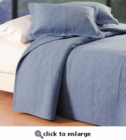 Colonial Blue Matelasse