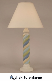 Cottage Stripe Lamp