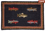 River Fish 2'x3' Hooked Rug