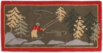 Fly Fisherman 2' x 4'  Rug