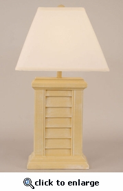 Yellow Gold Shutter Pot Lamp