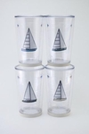 Sailboat Tumbler - Set of Four 16 oz